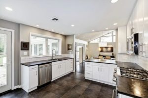 dark kitchen granite