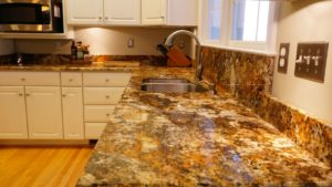 gold granite kitchen countertops