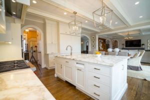 white marble countertops