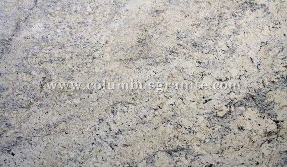White Ice Columbus Granite Kitchen Countertops