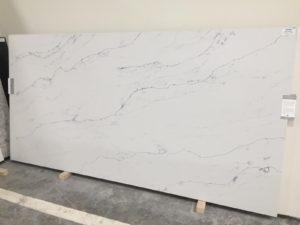 Bianco Macuba quartz kitchen countertops