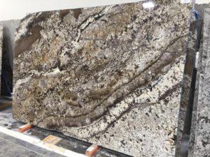 gold granite for kitchens