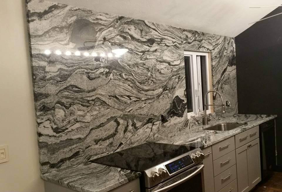 viscount white granite with back splash